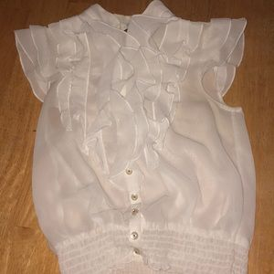 Formal blouse with ruffles and buttons